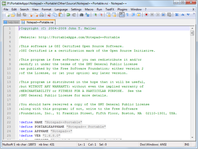 Notepad++(노트패드 플러스 플러스) v7.4.2 (32비트)