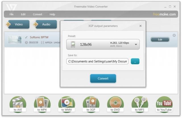 Freemake Video Converter v4.1.10.25 (무료로 다양한 동영상 포멧 변환)