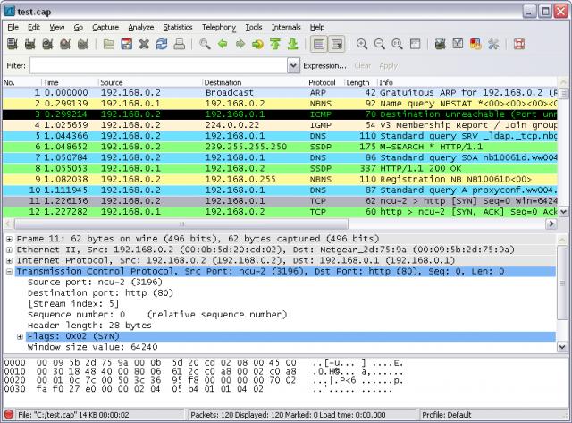 Wireshark v2.4.4 64bit (강력한 네트워크 패킷 분석툴)