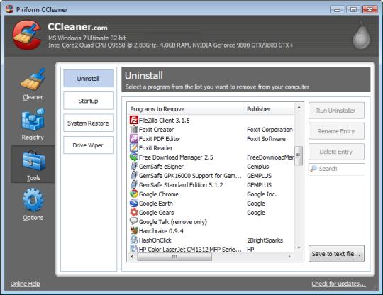 CCleaner v5.41 Portable (시스템 최적화/청소)