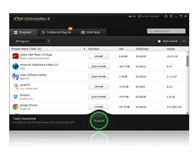 Iobit Uninstaller v8 0.0.41 베타버전 (프로그램 언인스톨을 깨끗이)