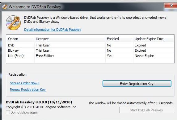 DVDFab Passkey Lite v9.2.2.5 (DVD 복사방지/지역코드 해제)