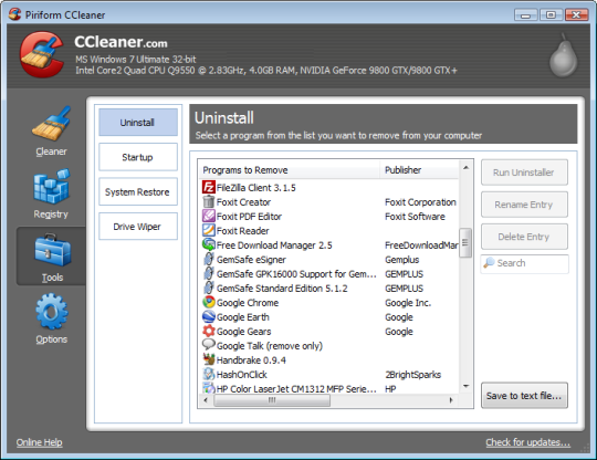 CCleaner v5.41 (시스템 최적화/청소)