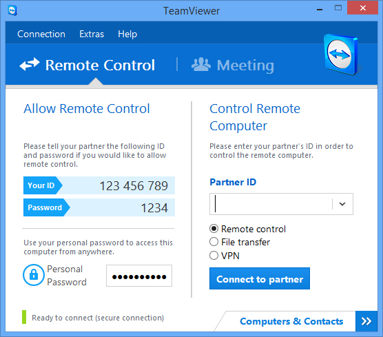 한글 TeamViewer Portable 버전 v13.1.1548 (무료 데스크탑 원격 제어)