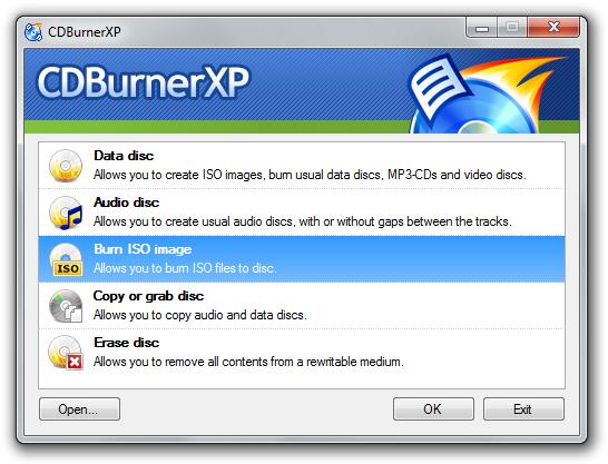 CDBurnerXP v4.5.8.6960 베타 버전 32비트 (무료 레코딩 유틸)