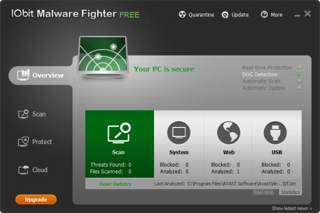 IObit Malware Fighter v6.1.0.4705 (멀웨어/스파이웨어 삭제)