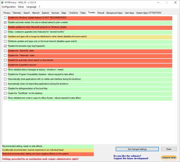 W10Privacy v3.1.0.3 (윈도우 10 보안 설정)
