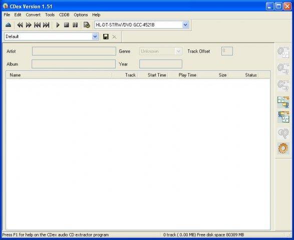 CDex v2.10 정식버전 (오디오 CD -> MP3 변환)