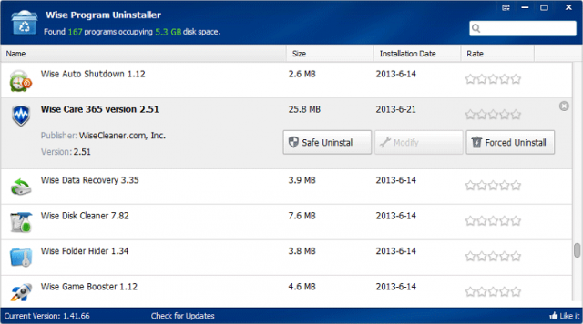 Wise Program Uninstaller v2.31.132 Portable (프로그램 언인스톨을 깨끗이)