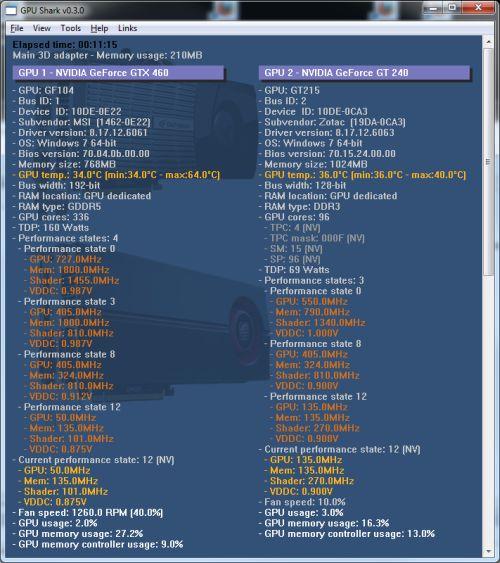 GPU Shark v0.12.3.0 (그래픽카드 정보 확인/모니터링 유틸)
