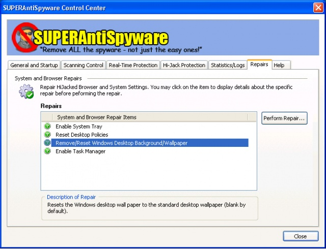 SUPERAntiSpyware Free v8.0.0.1030 (무료 스파이웨어 검색/삭제)