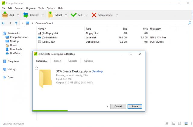 PeaZip for Windows v6.7 2 32bit (오픈소스 무료 압축/해제/관리)
