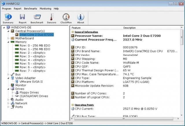 HWiNFO 설치버전 v6.06 (시스템 하드웨어 정보확인)
