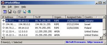 IPInfoOffline v1.55 (IP주소 정보 확인)