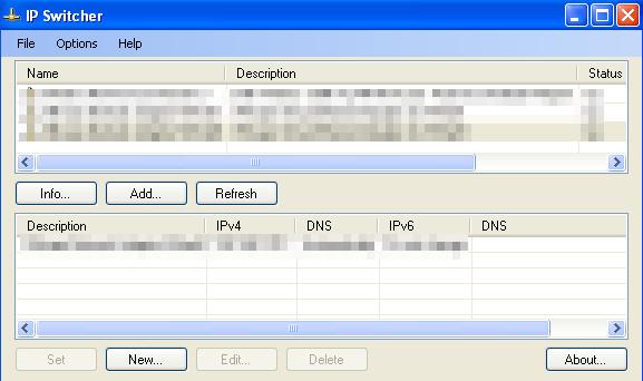 IPSwitcher 설치버전 v3.5.0.26 (트레이 메뉴에서 IP변경)