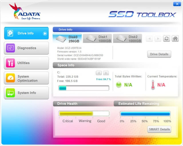 ADATA SSD Toolbox 3.0.11 (ADATA SSD 진단/최적화/정보확인)