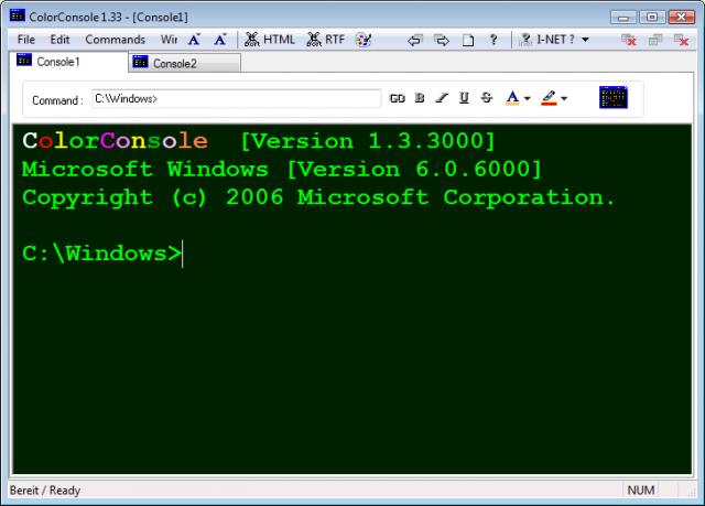 컬러 콘솔(ColorConsole) v4.11 (DOS 프롬프트 기능 강화)