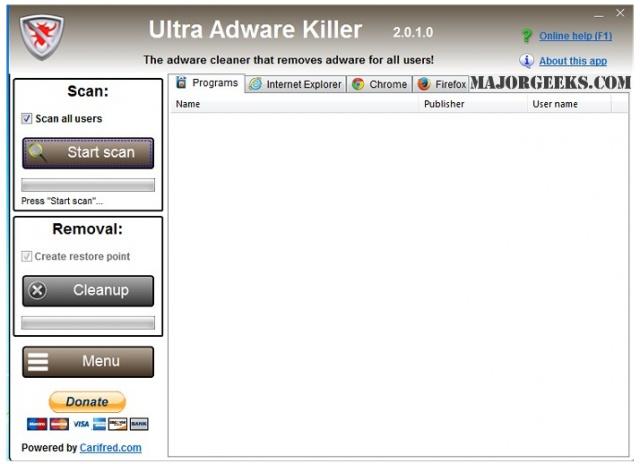 울트라 애드웨어 킬러(Ultra Adware Killer) v7.6.8.0 32비트 (툴바/플러그인/하이젝 삭제)