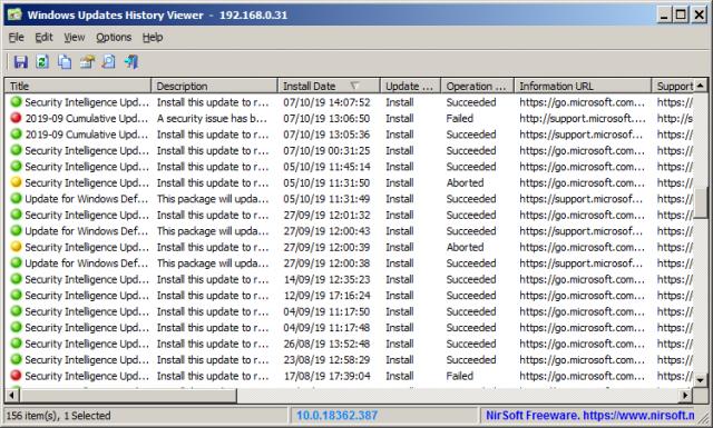 WinUpdatesView v1.15 32bit (간편한 윈도우 업데이트 뷰어)