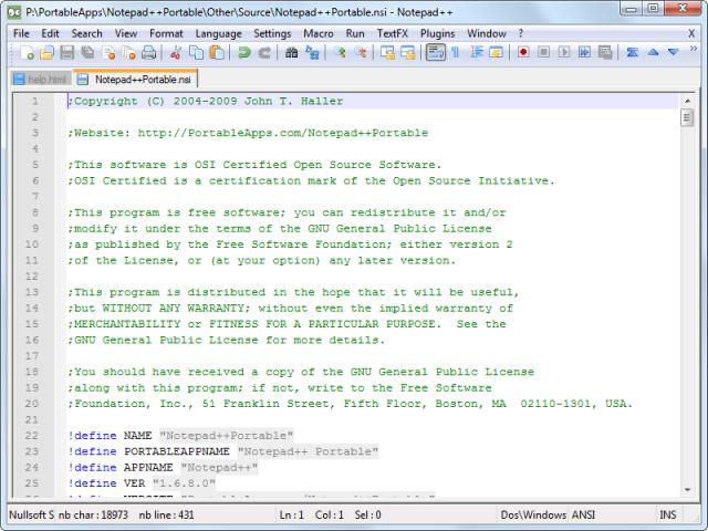 Notepad++(노트패드 플러스 플러스) v8.1.6 (32비트)